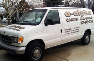 A-Alpha Carpet Cleaning Sandy Utah Service Van